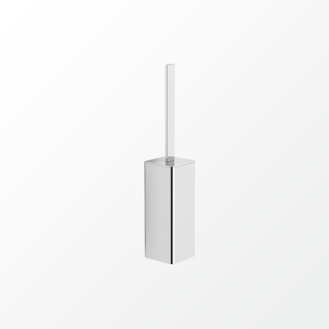 Universal Wall-mount Toilet Brush Set - Square Low Profile
