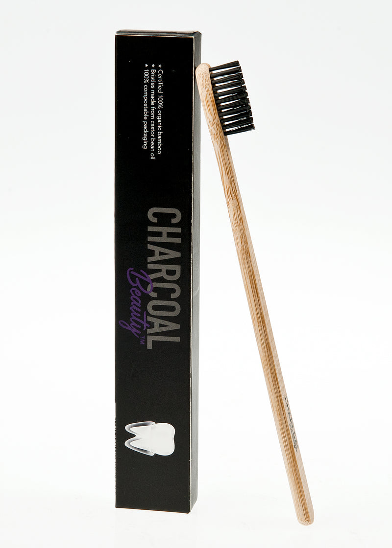 Charcoal Bristle Bamboo Toothbrush