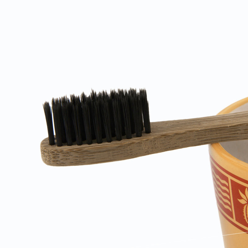 Charcoal coated Bamboo Toothbrush