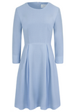 Pastel blue dress with sleeves