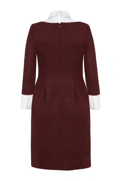 Heaton Burgundy - office dress