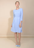 Light blue dress. Classy work dress by Kotys. Full view picture.