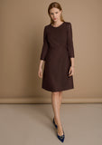 Perry Brown - soft wool dress