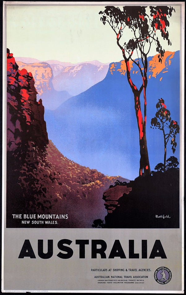 VINTAGE AUSTRALIANA | BLUE MONTAINS | AUSTRALIA 50x70