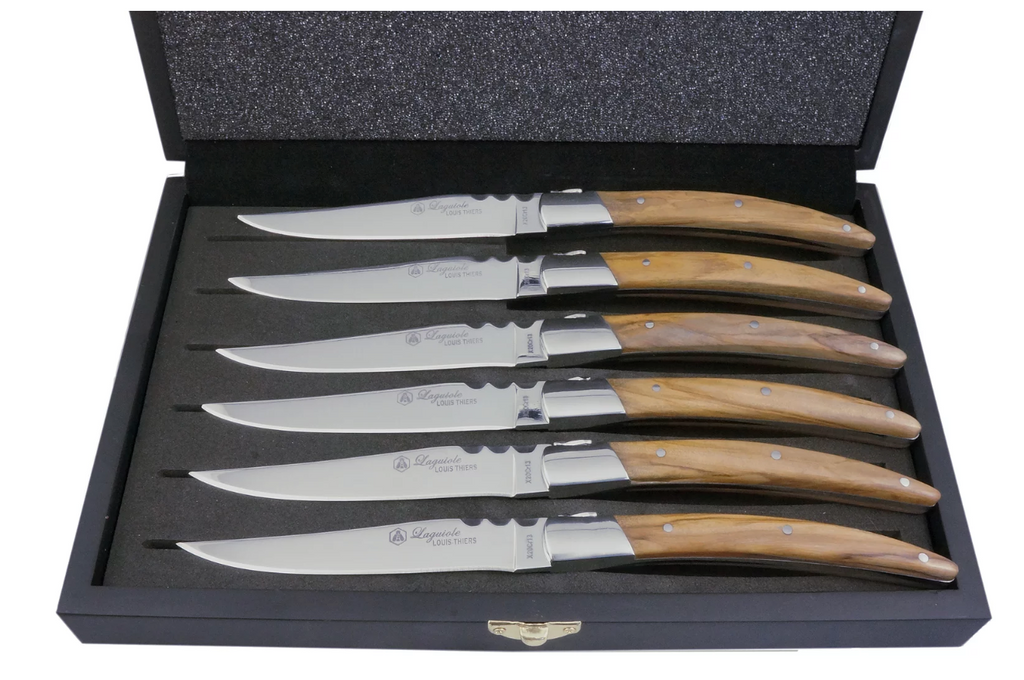 Artisan Steak Knives - Olive Wood