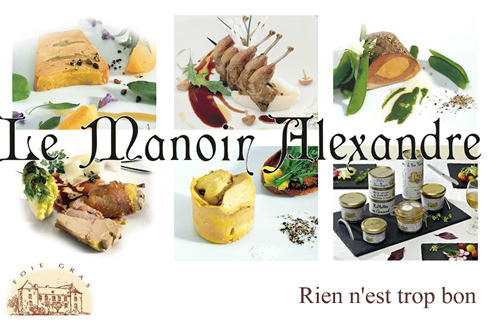 "Jar of Duck a l'Orange legs ""LE MANOIR ALEXANDRE"