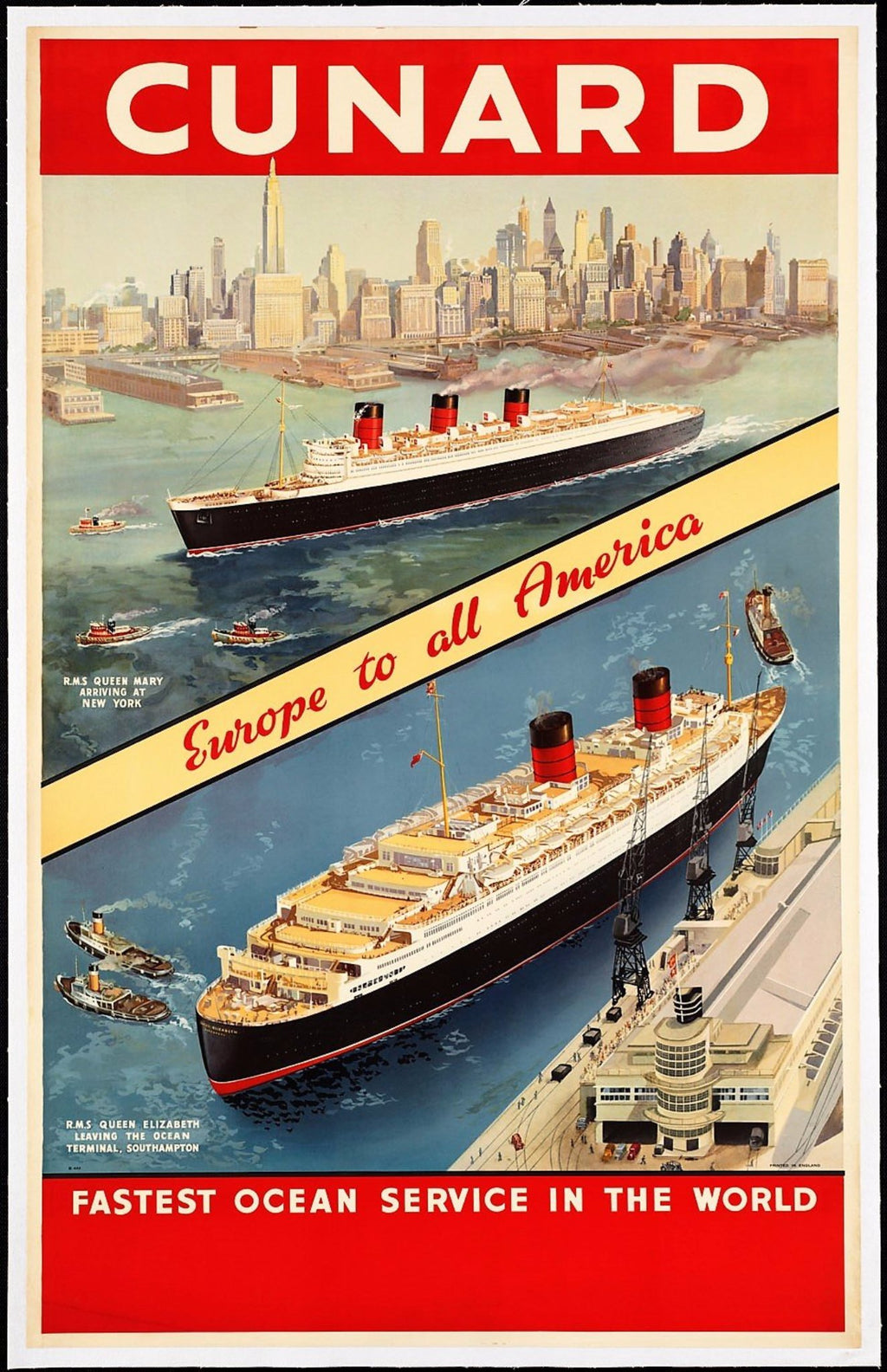 WORLD TRAVEL AMERICAS | CUNARD 50x70