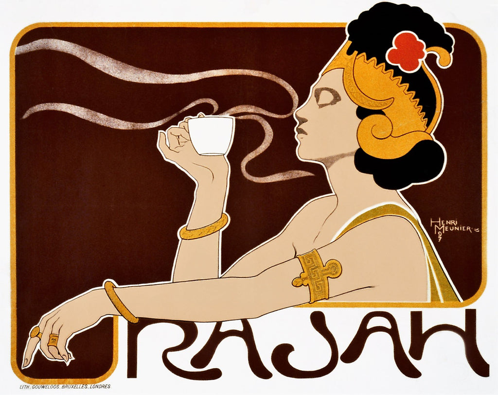 FRENCH ART NOUVEAU | CAFE RAJAH 50x70