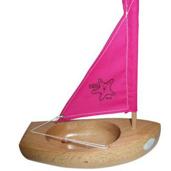 LITTLE FRENCH HEART | BATEAUX TIROT TOY WOODEN PRINCESS BOAT