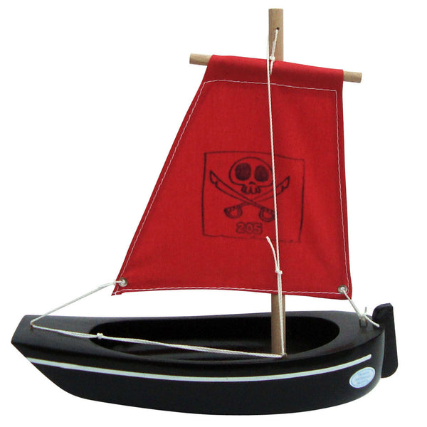 LITTLE FRENCH HEART | BATEAUX TIROT TOY WOODEN PIRATE BOAT