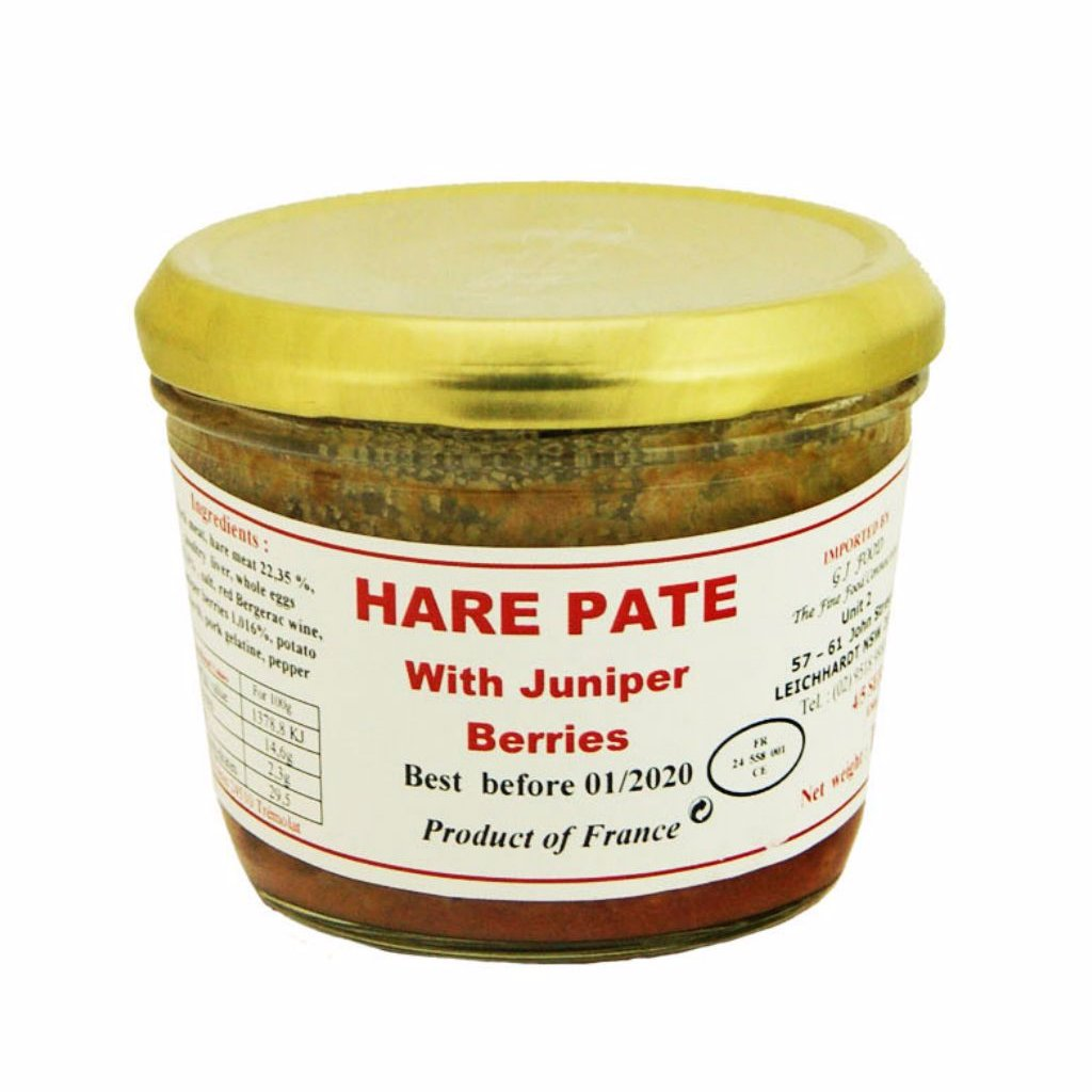 DANOS | 180g HARE PÂTÉ WITH JUNIPER BERRIES