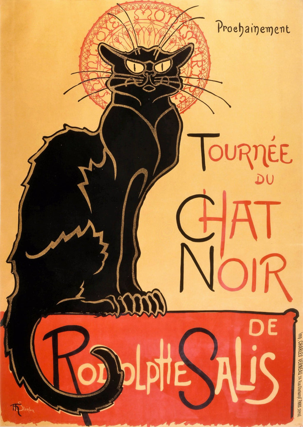 PARIS | CHAT NOIR 50x70