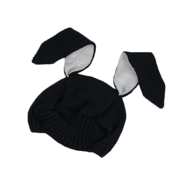 d54a6f1a1fa 1Pcs Baby Rabbit Ears Hat Winter Baby Bonnet Hat Knitted Infant Toddler Cap  Girl Boy Accessories