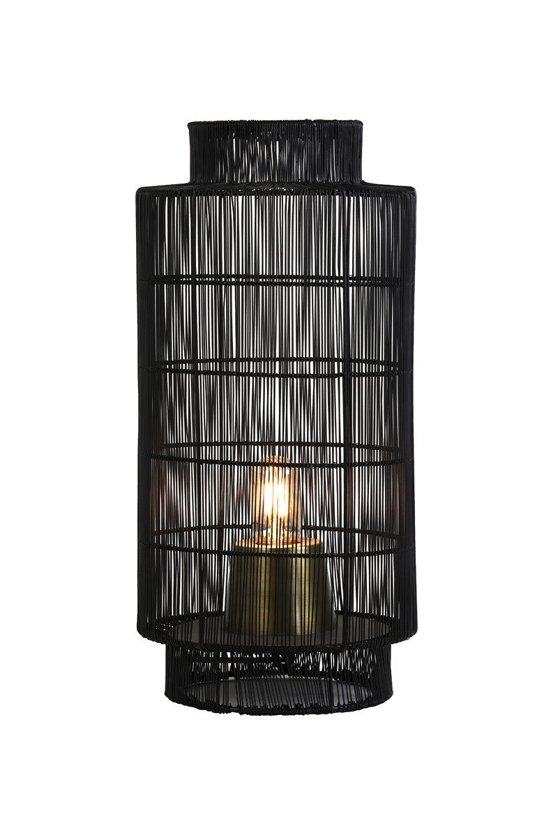TABLE LAMP GRUARO - BLACK-ANTIQUE BRONZE