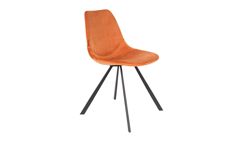 CHAIR FRANKY VELVET - ORANGE