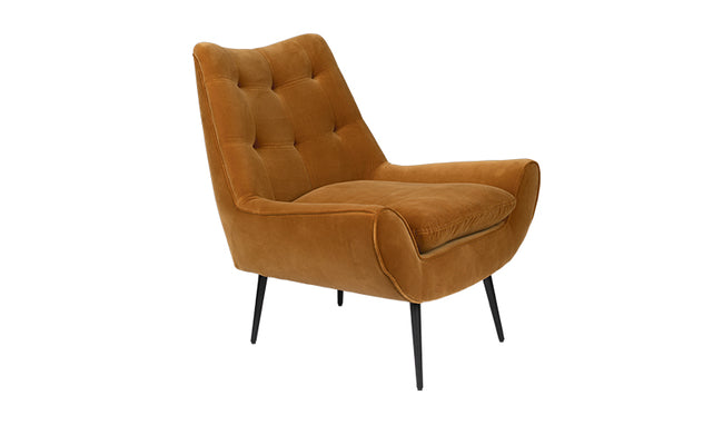 LOUNGE CHAIR GLODIS - CARAMEL