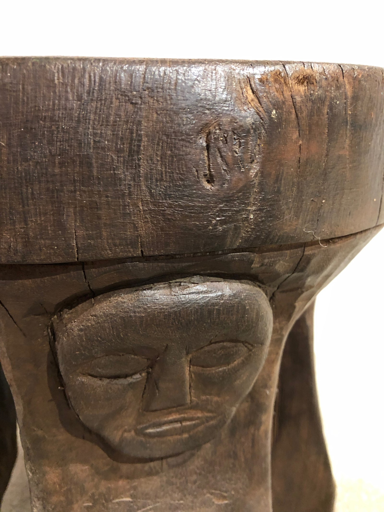TRIBAL STOOL - WOOD
