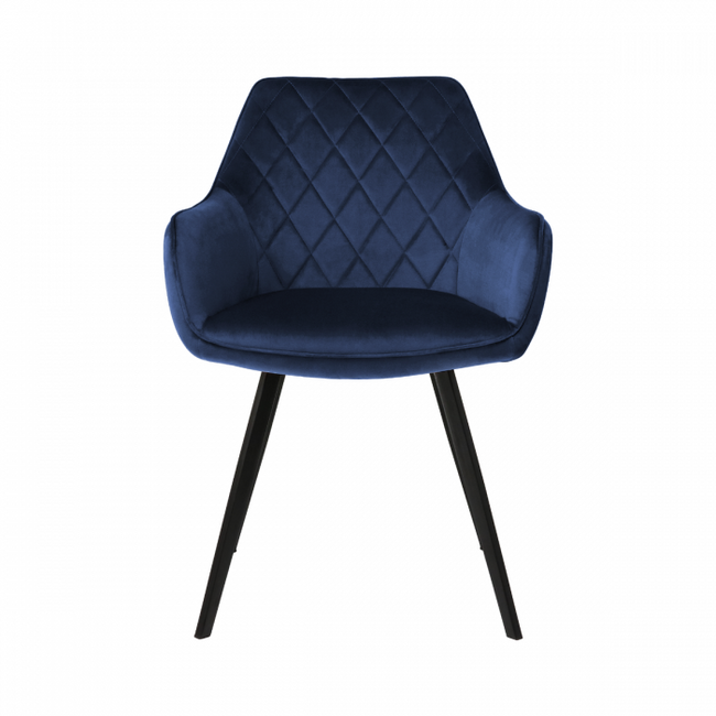 DINING CHAIR VELVET KARL  - DARK BLUE