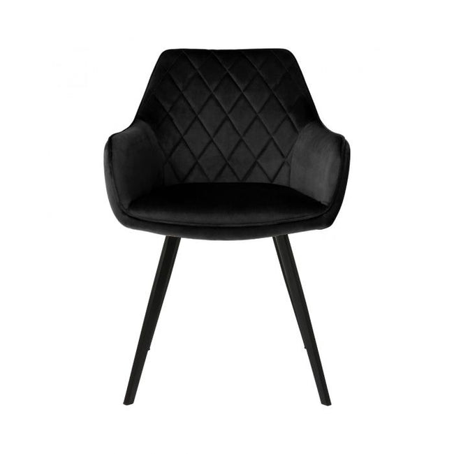 DINING CHAIR VELVET KARL  - BLACK