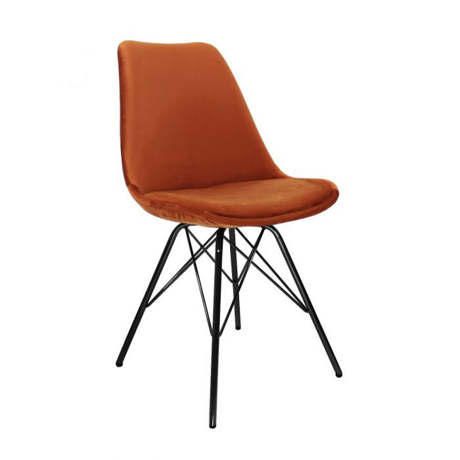 VELVET DINING CHAIR - ORANGE