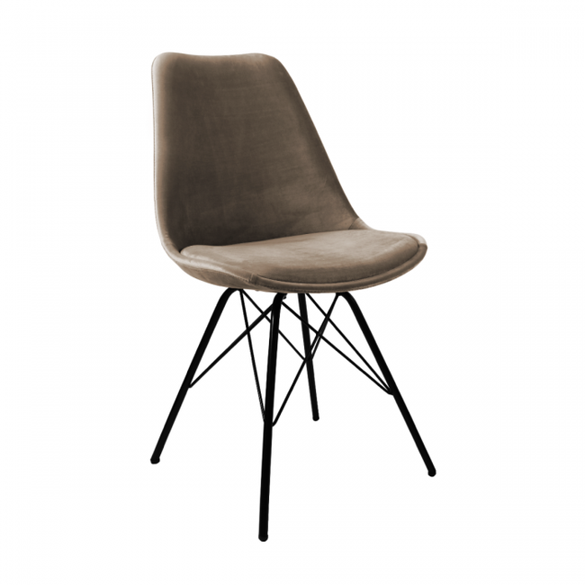 VELVET DINING CHAIR - TAUPE