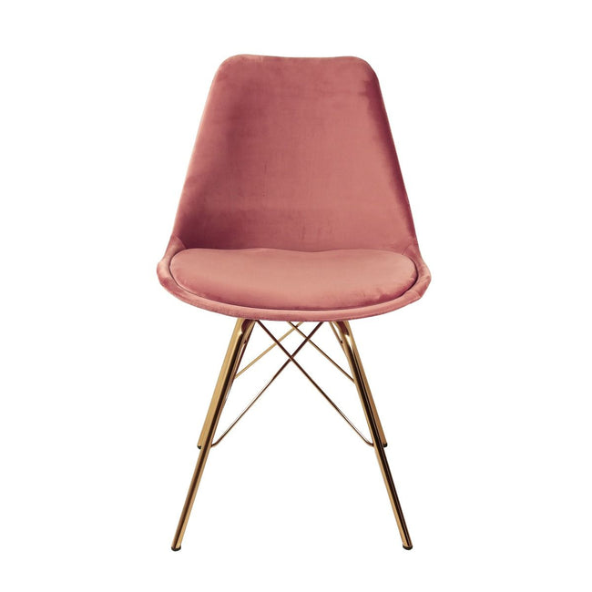 VELVET DINING CHAIR - PINK