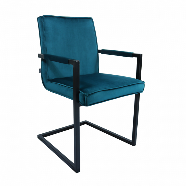 VELVET DINING CHAIR JIM - BLUE