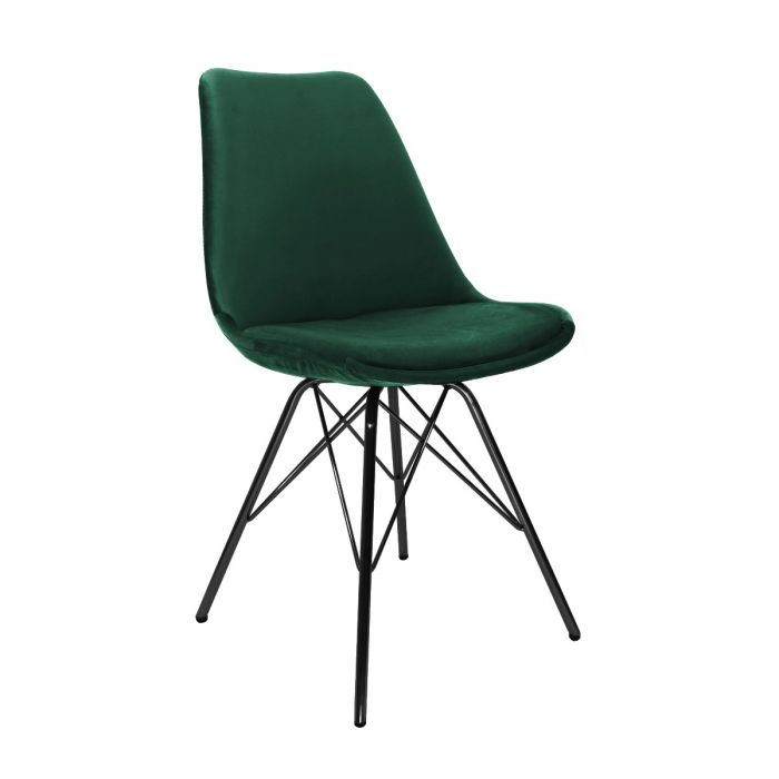VELVET DINING CHAIR - DARK GREEN