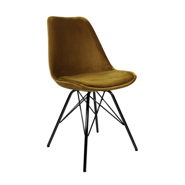 VELVET DINING CHAIR - GOLD