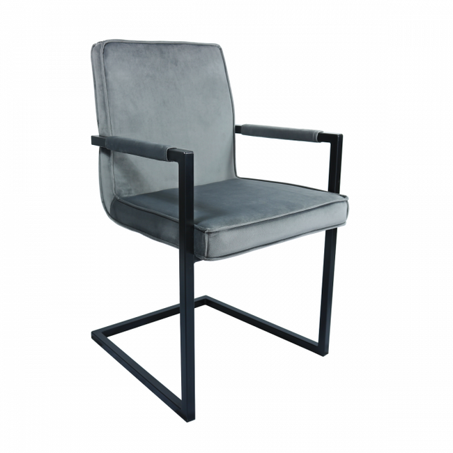 VELVET DINING CHAIR JIM - GREY