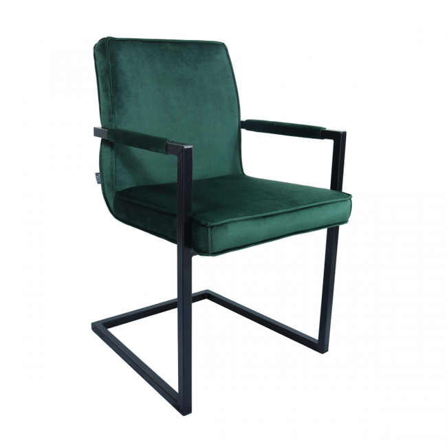 VELVET DINING CHAIR JIM - GREEN