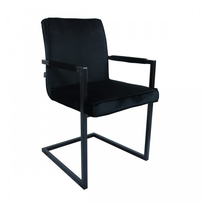 VELVET DINING CHAIR JIM - BLACK