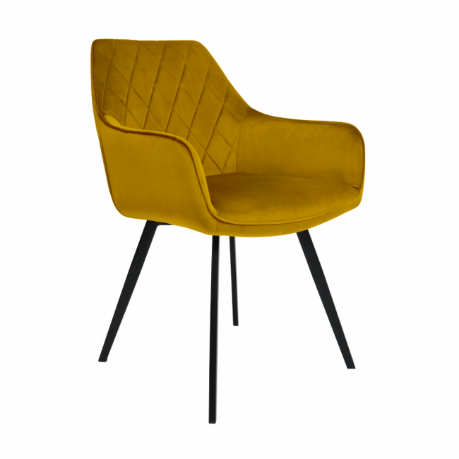 DINING CHAIR VELVET KARL  - GOLD