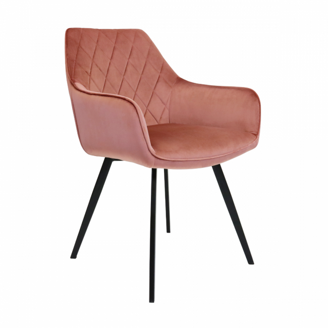 DINING CHAIR VELVET KARL  - PINK