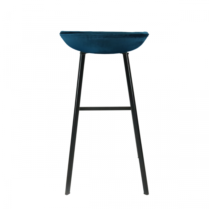 VELVET BAR CHAIR - DARK BLUE