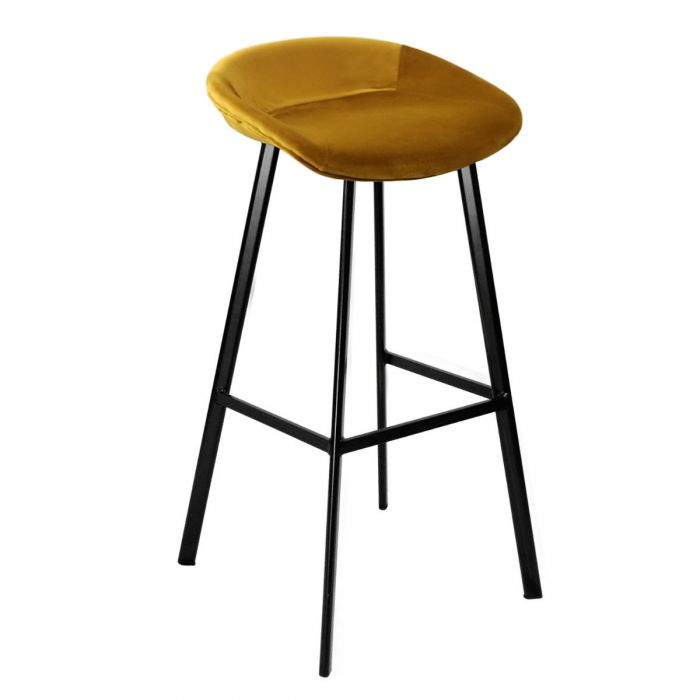 VELVET BAR CHAIR - GOLD