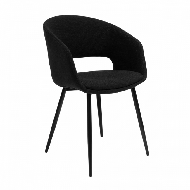DINING CHAIR DEAN - BLACK
