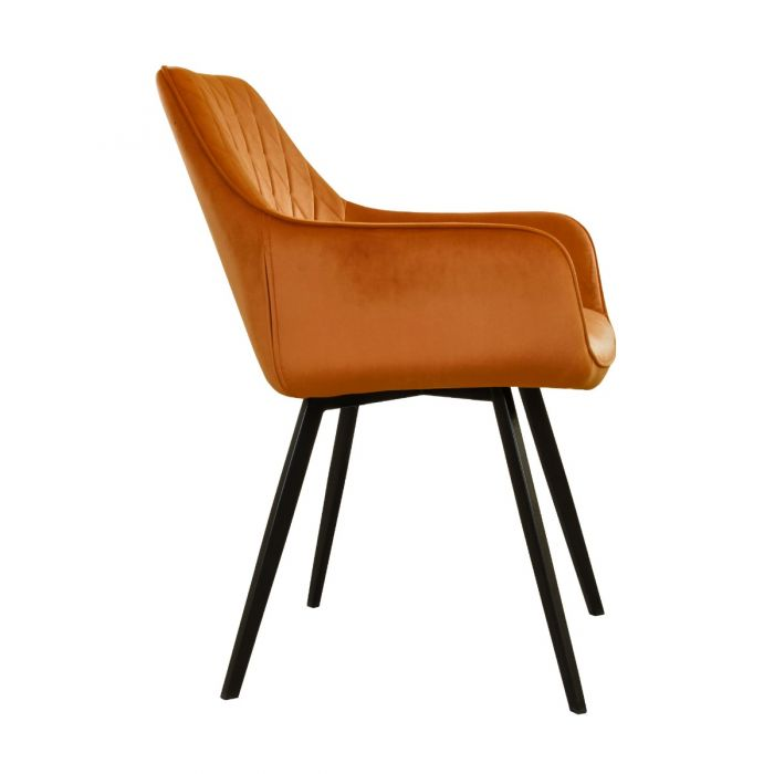 DINING CHAIR VELVET KARL  - ORANGE