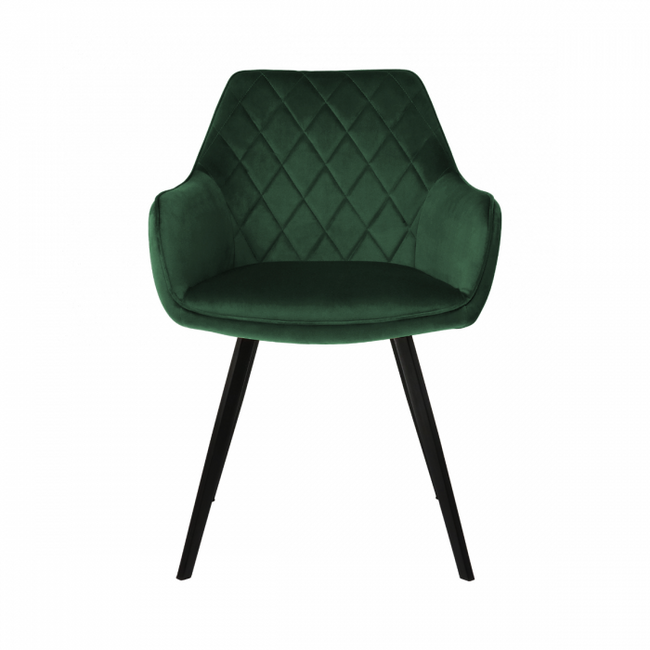 DINING CHAIR VELVET KARL  - DARK GREEN