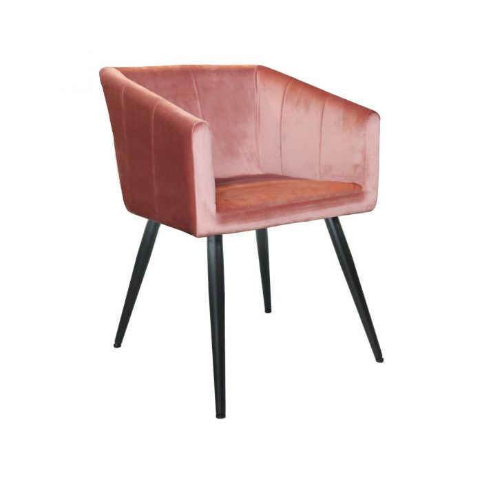 VELVET DINING CHAIR LIV - PINK