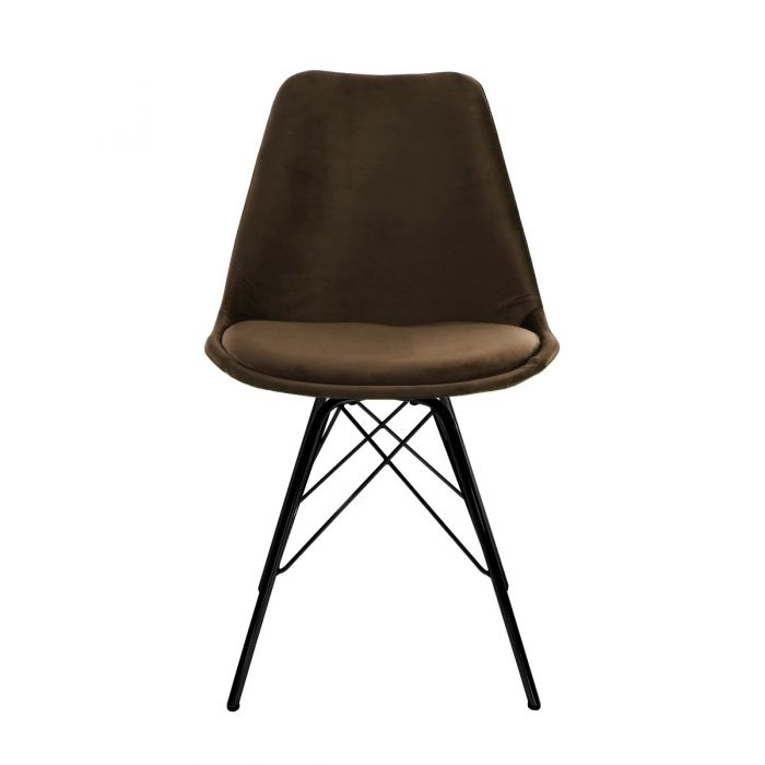 VELVET DINING CHAIR - COFFEE BROWN