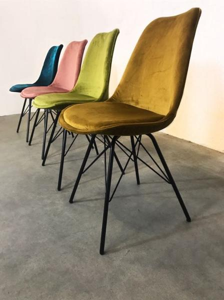 VELVET DINING CHAIR - GREEN