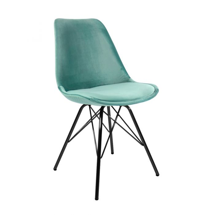 VELVET DINING CHAIR - MINT GREEN