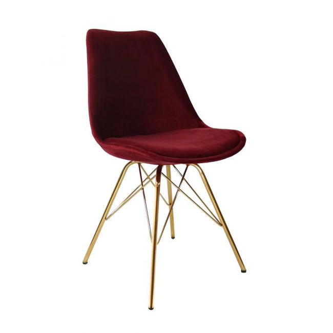 VELVET DINING CHAIR - RED