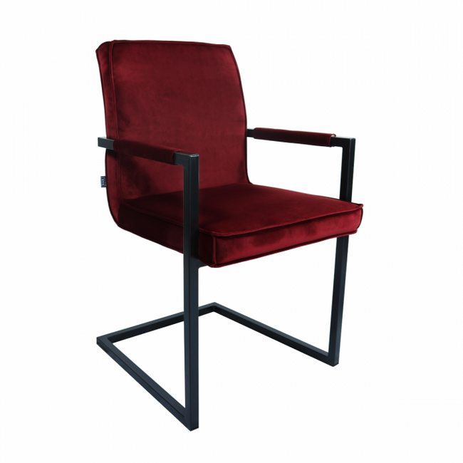 VELVET DINING CHAIR JIM - RED