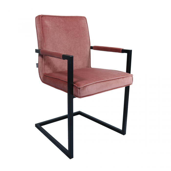 VELVET DINING CHAIR JIM - PINK