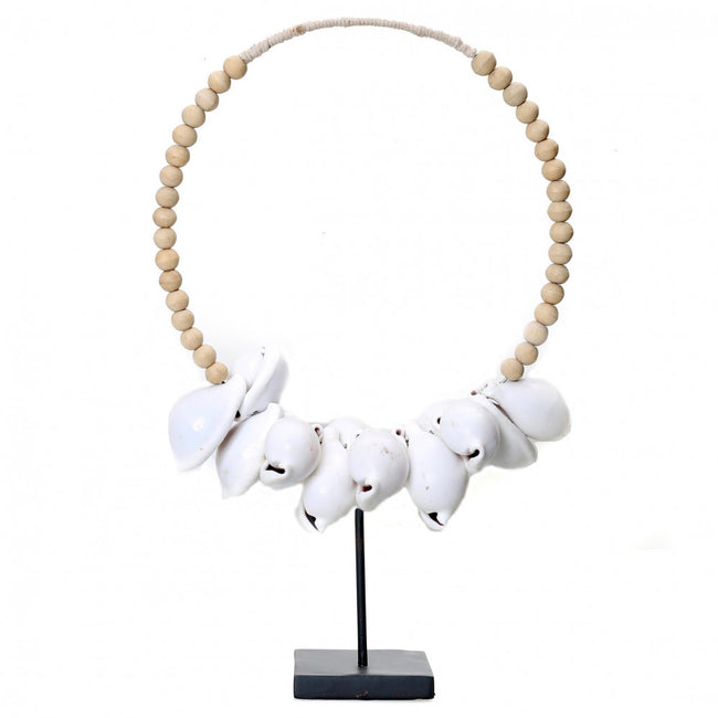 NECKLACE WHITE COWRIE SHELLS