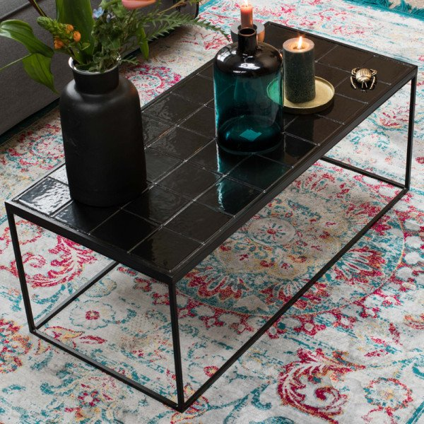 COFFEE TABLE GLAZED -  BLACK