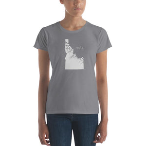 SALE! Storm Grey Idaho Roots Ladies Tee, Size Medium