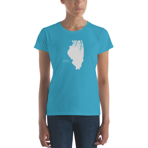 Illinois Roots Ladies Tee - OnlyInYourState Apparel